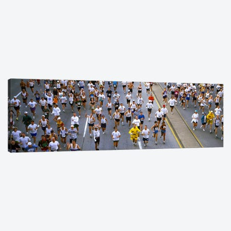 People running in a marathonChicago Marathon, Chicago, Illinois, USA Canvas Print #PIM7785} by Panoramic Images Art Print