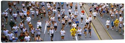 People running in a marathonChicago Marathon, Chicago, Illinois, USA Canvas Art Print