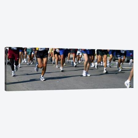Low section view of people running in a marathonChicago Marathon, Chicago, Illinois, USA Canvas Print #PIM7786} by Panoramic Images Canvas Print