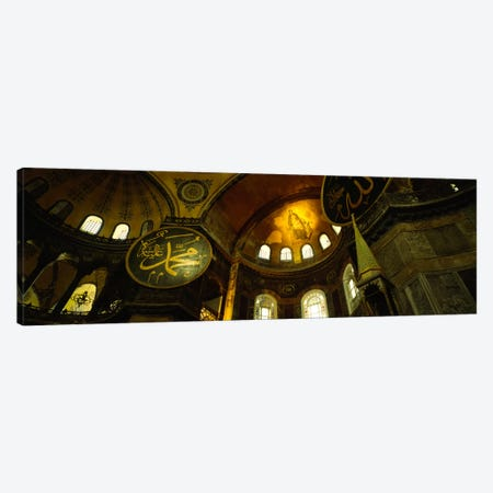 Low angle view of a ceiling, Aya Sophia, Istanbul, Turkey Canvas Print #PIM778} by Panoramic Images Canvas Art