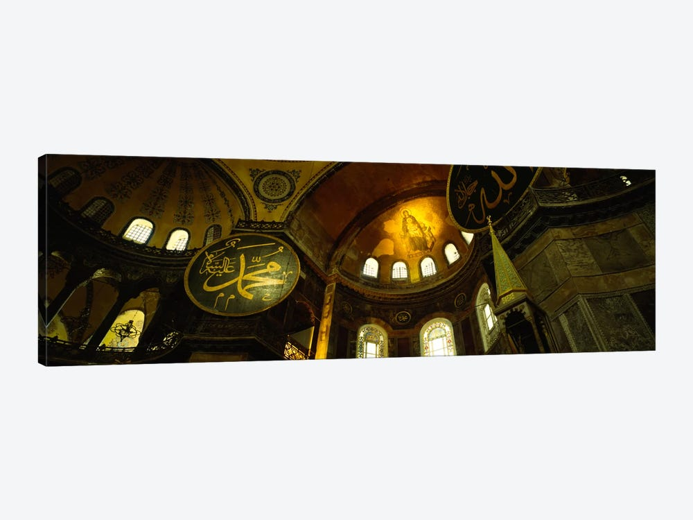 Low angle view of a ceiling, Aya Sophia, Istanbul, Turkey by Panoramic Images 1-piece Canvas Artwork