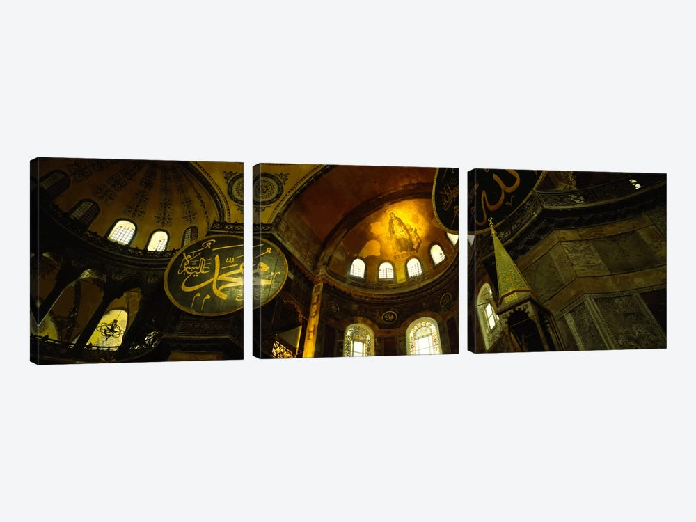 Low angle view of a ceiling, Aya Sophia, Istanbul, Turkey by Panoramic Images 3-piece Canvas Wall Art