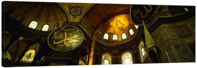 Low angle view of a ceiling, Aya Sophia, Istanbul, Turkey Canvas Art Print