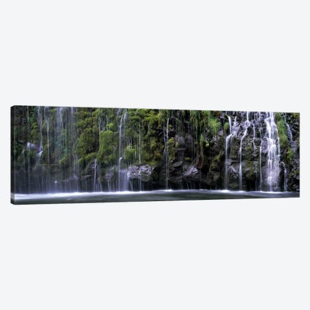 WaterfallMossbrae Falls, Sacramento River, Dunsmuir, Siskiyou County, California, USA Canvas Print #PIM7792} by Panoramic Images Canvas Art Print