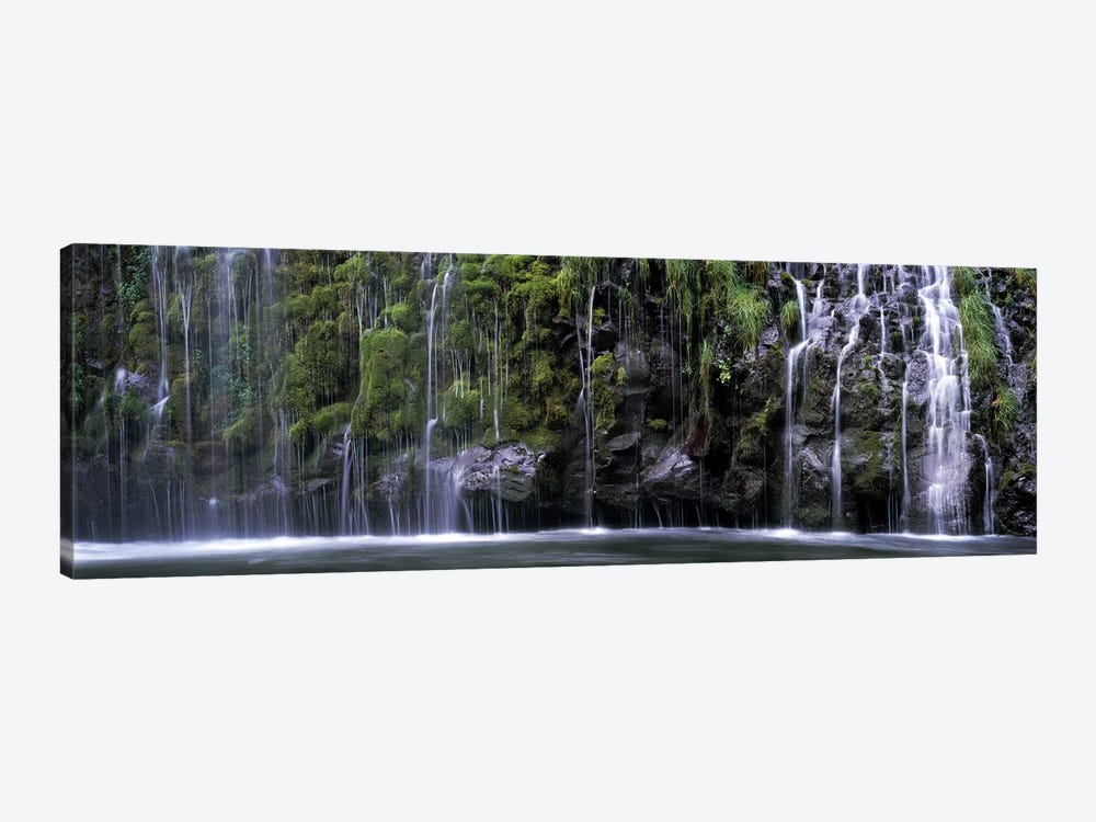 WaterfallMossbrae Falls, Sacramento River, Dunsmuir, Siskiyou County, California, USA by Panoramic Images 1-piece Canvas Artwork