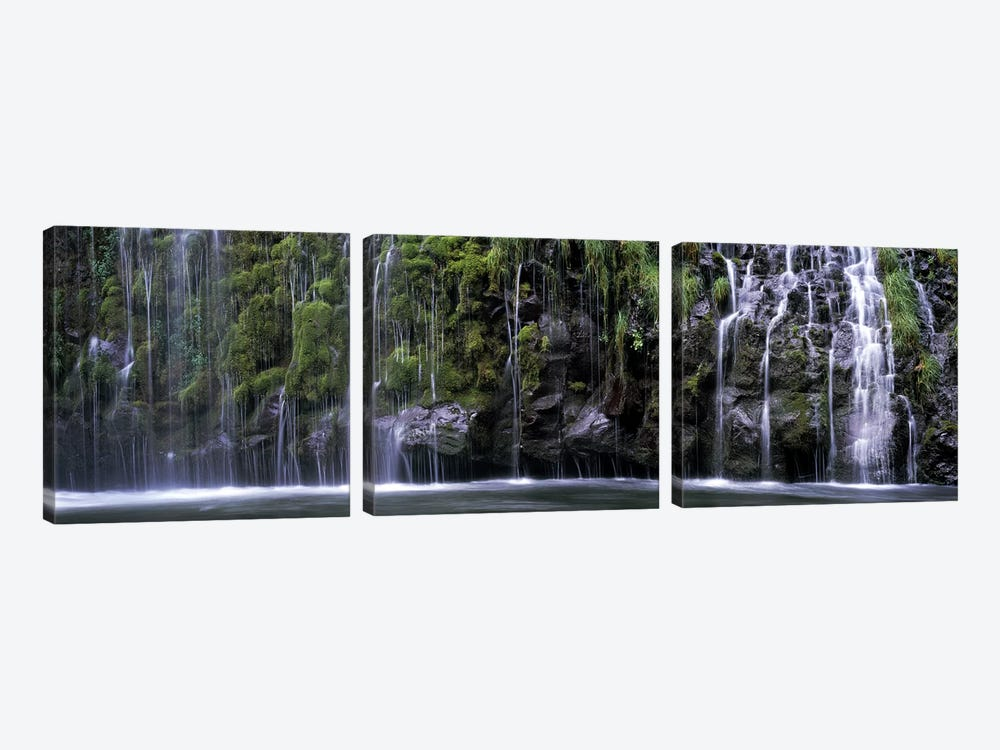 WaterfallMossbrae Falls, Sacramento River, Dunsmuir, Siskiyou County, California, USA by Panoramic Images 3-piece Canvas Artwork
