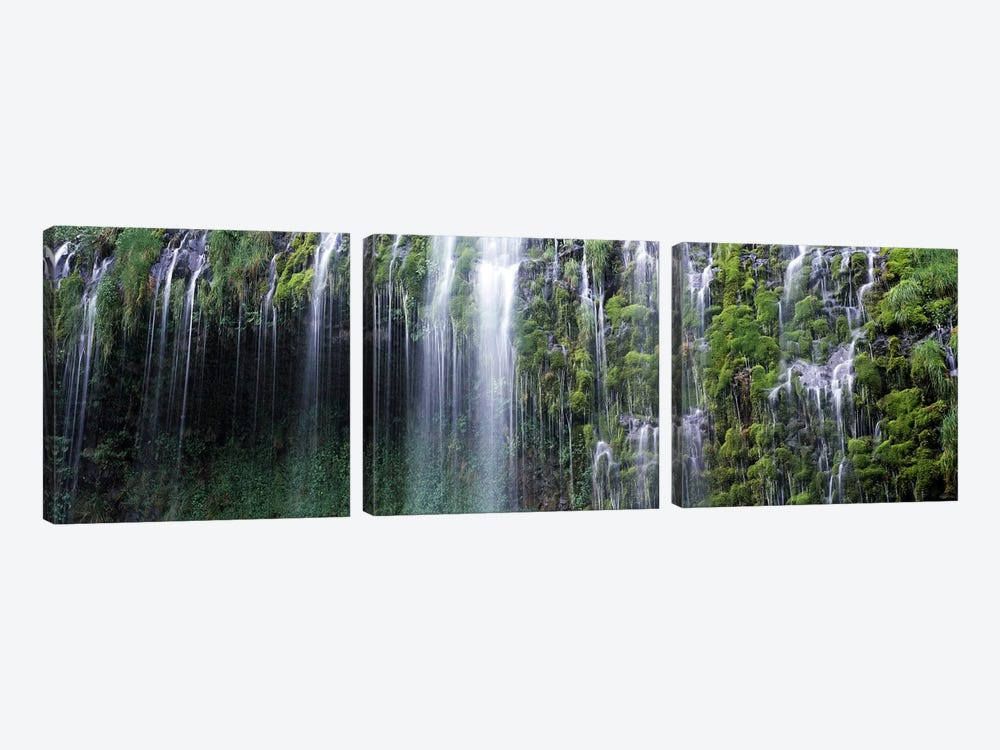 Waterfall, Mossbrae Falls, Sacramento River, Dunsmuir, Siskiyou County, California, USA by Panoramic Images 3-piece Canvas Print