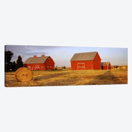 Red barns in a farm, Palouse, Whitman County, Washington State, USA Canvas Print #PIM7794} by Panoramic Images Canvas Art
