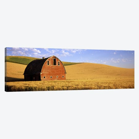 Old barn in a wheat field, Palouse, Whitman County, Washington State, USA #3 Canvas Print #PIM7795} by Panoramic Images Canvas Art