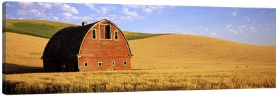 Old barn in a wheat field, Palouse, Whitman County, Washington State, USA #3 Canvas Print #PIM7795