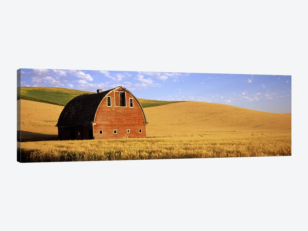 Old barn in a wheat field, Palouse, Whitman County, Washington State, USA #3 by Panoramic Images 1-piece Canvas Print