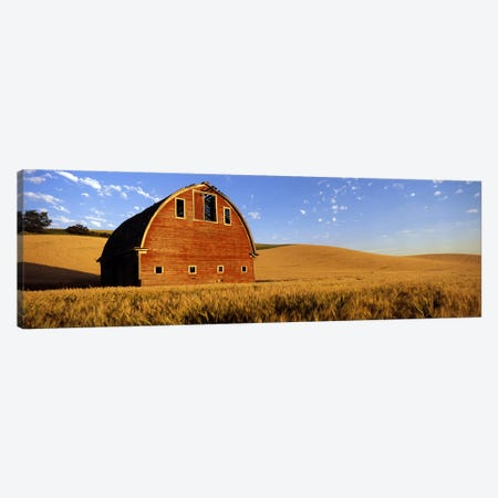 Old barn in a wheat field, Palouse, Whitman County, Washington State, USA #4 Canvas Print #PIM7796} by Panoramic Images Canvas Wall Art