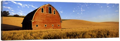 Old barn in a wheat field, Palouse, Whitman County, Washington State, USA #4 Canvas Print #PIM7796