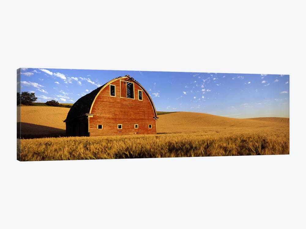 Old barn in a wheat field, Palouse, Whitman County, Washington State, USA #4 by Panoramic Images 1-piece Canvas Artwork