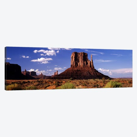 West Mitten Butte, Monument Valley, Navajo Nation, Arizona, USA Canvas Print #PIM7797} by Panoramic Images Canvas Wall Art
