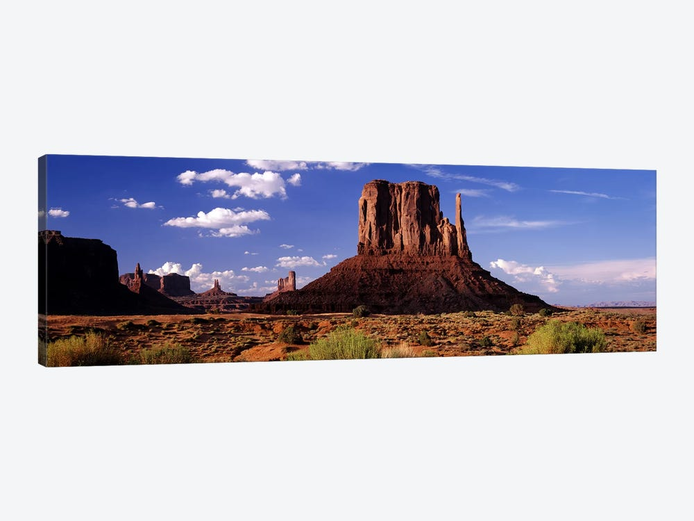 West Mitten Butte, Monument Valley, Navajo Nation, Arizona, USA by Panoramic Images 1-piece Canvas Art Print