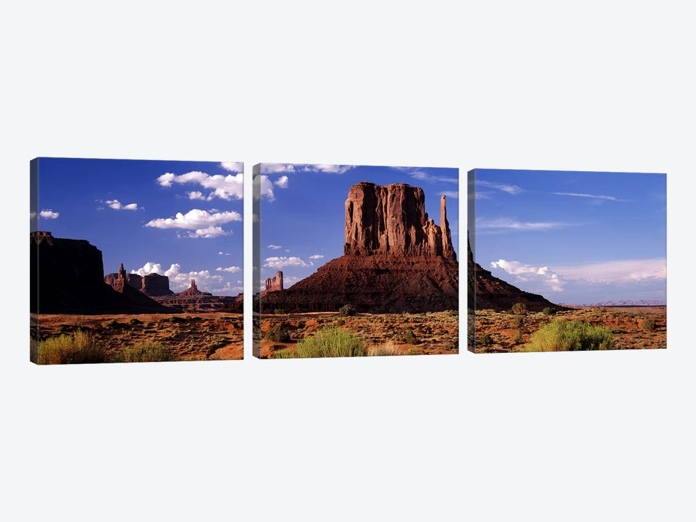 West Mitten Butte, Monument Valley, Navajo Nation, Arizona, USA by Panoramic Images 3-piece Art Print