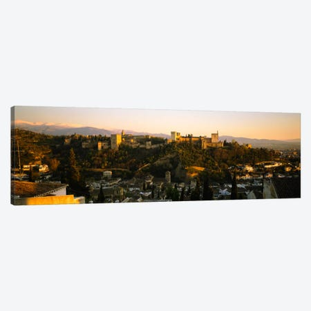Afternoon View Of Alhambra, Granada, Andalusia, Spain Canvas Print #PIM779} by Panoramic Images Canvas Wall Art