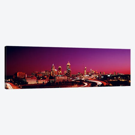 USA, Georgia, Atlanta, night Canvas Print #PIM77} by Panoramic Images Canvas Artwork