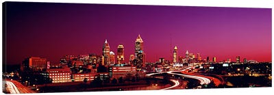 USA, Georgia, Atlanta, night Canvas Art Print