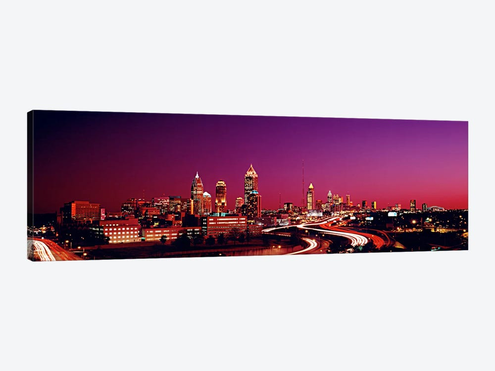 USA, Georgia, Atlanta, night 1-piece Canvas Art