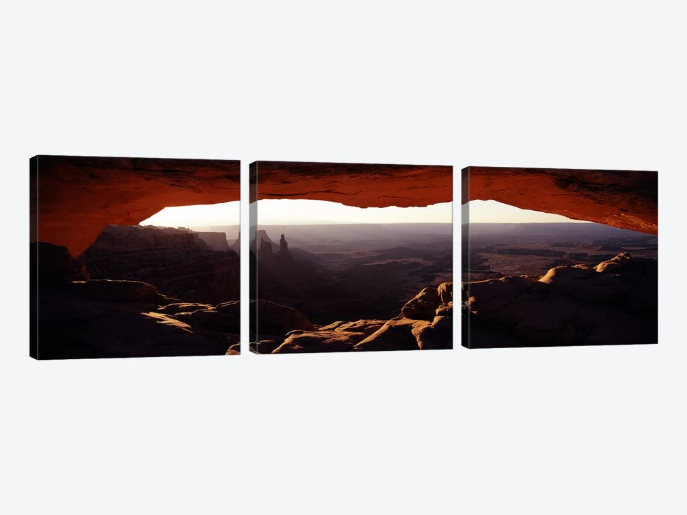 Morning View Through Mesa Arch, Canyonlands National Park, Utah, USA by Panoramic Images 3-piece Art Print