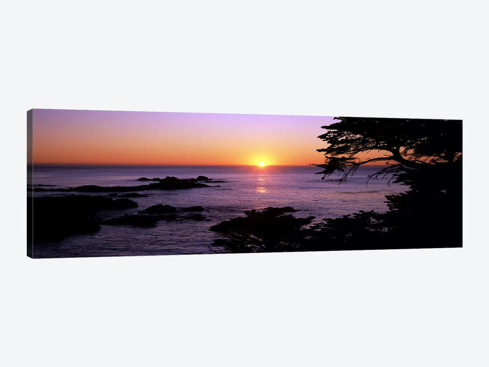 Sunset over the sea, Point Lobos State Reserve, Carmel, Monterey County, California, USA 1-piece Art Print