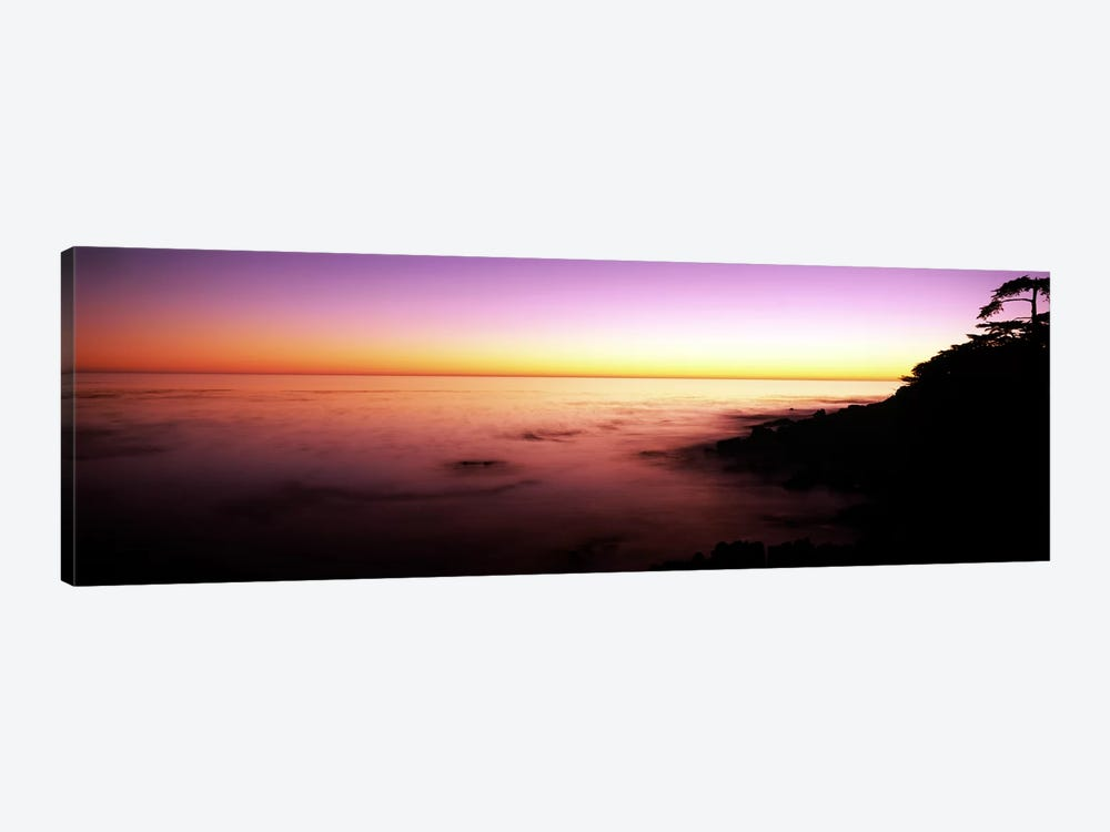 Sea at sunset, Point Lobos State Reserve, Carmel, Monterey County, California, USA by Panoramic Images 1-piece Canvas Wall Art