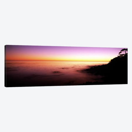 Sea at sunset, Point Lobos State Reserve, Carmel, Monterey County, California, USA Canvas Print #PIM7818} by Panoramic Images Canvas Art
