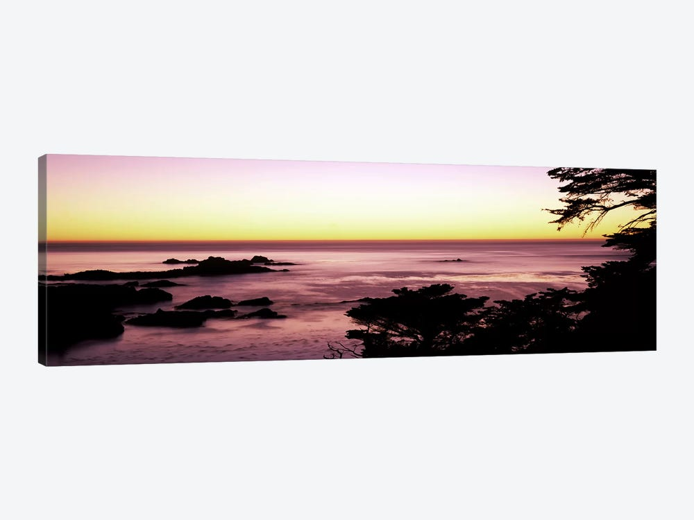 Sea at sunset, Point Lobos State Reserve, Carmel, Monterey County, California, USA #2 by Panoramic Images 1-piece Art Print