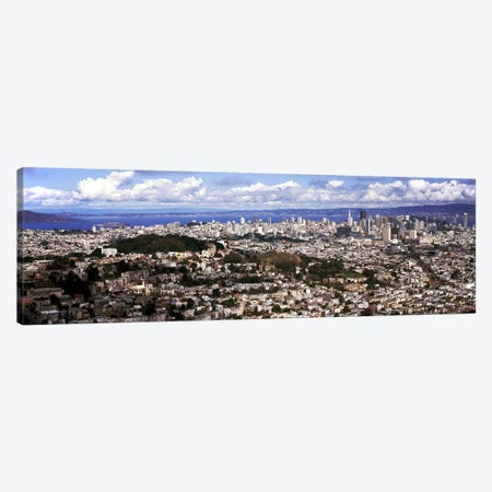 Cityscape viewed from the Twin Peaks, San Francisco, California, USA Canvas Print #PIM7820} by Panoramic Images Art Print