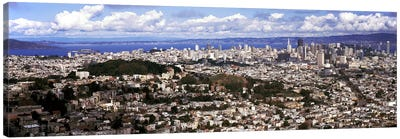 Cityscape viewed from the Twin Peaks, San Francisco, California, USA Canvas Print #PIM7820