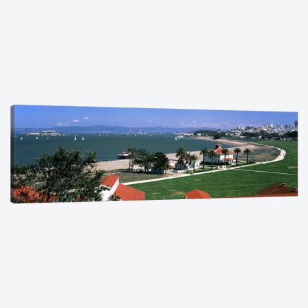 Buildings in a park, Crissy Field, San Francisco, California, USA Canvas Print #PIM7826} by Panoramic Images Canvas Wall Art