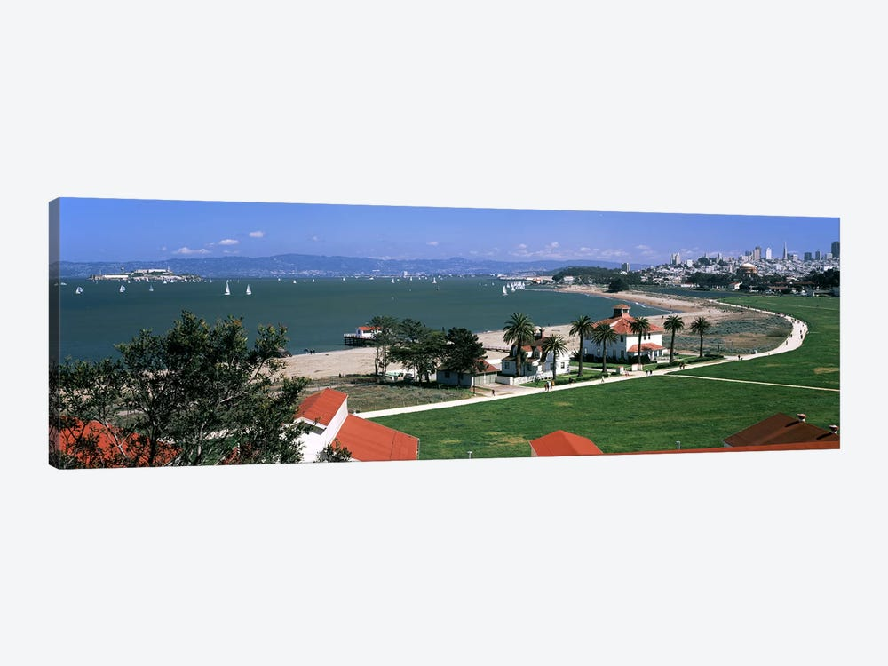 Buildings in a park, Crissy Field, San Francisco, California, USA by Panoramic Images 1-piece Art Print