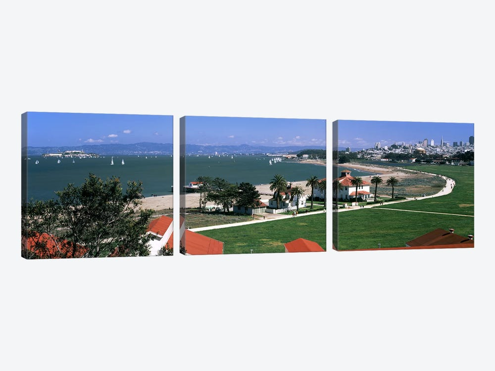 Buildings in a park, Crissy Field, San Francisco, California, USA by Panoramic Images 3-piece Art Print