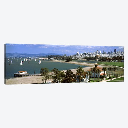 Buildings in a park, Crissy Field, San Francisco, California, USA #2 Canvas Print #PIM7827} by Panoramic Images Canvas Wall Art