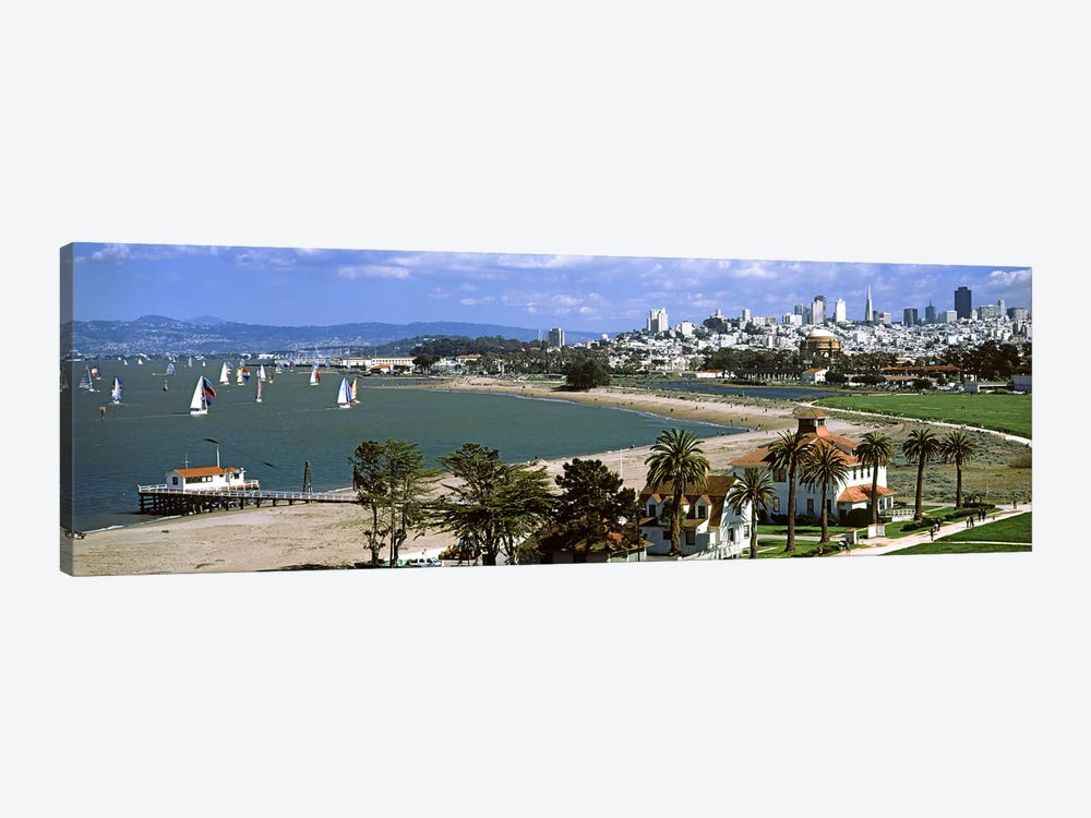 Buildings in a park, Crissy Field, San Francisco, California, USA #2 by Panoramic Images 1-piece Canvas Artwork