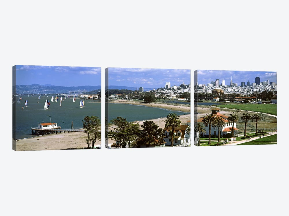 Buildings in a park, Crissy Field, San Francisco, California, USA #2 by Panoramic Images 3-piece Canvas Wall Art