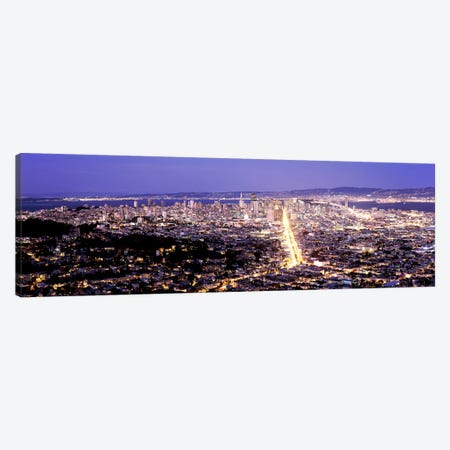 Aerial view of a city, San Francisco, California, USA Canvas Print #PIM7828} by Panoramic Images Canvas Art Print