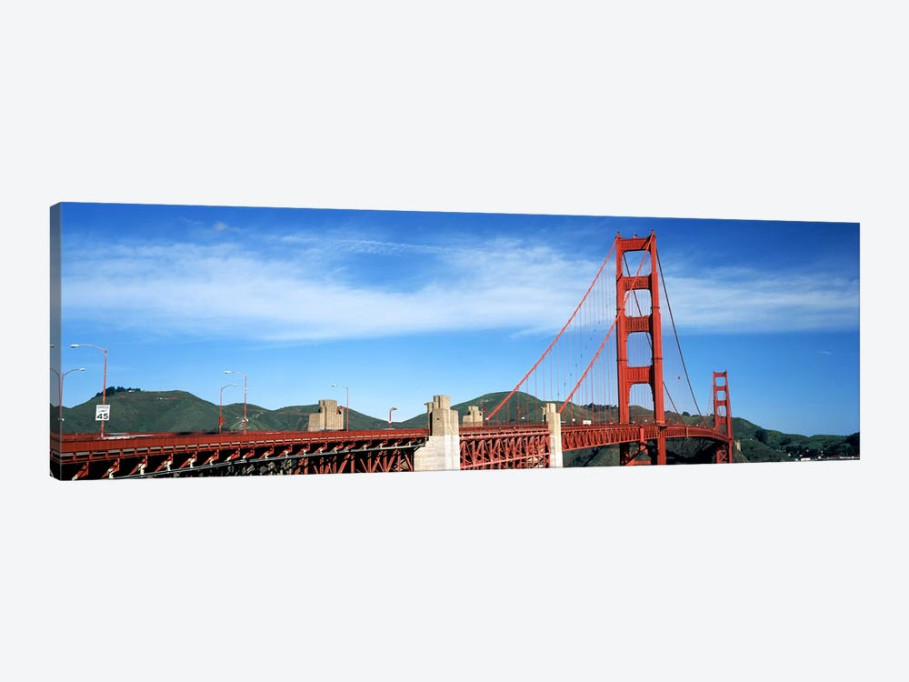 Suspension bridge across a bay, Golden Gate Bridge, San Francisco Bay, San Francisco, California, USA #3 by Panoramic Images 1-piece Canvas Art