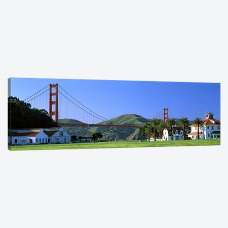 Bridge viewed from a park, Golden Gate Bridge, Crissy Field, San Francisco, California, USA Canvas Print #PIM7830} by Panoramic Images Canvas Wall Art