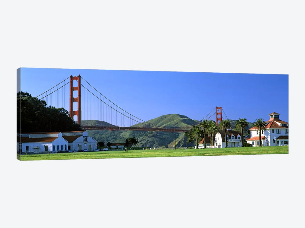 Bridge viewed from a park, Golden Gate Bridge, Crissy Field, San Francisco, California, USA by Panoramic Images 1-piece Canvas Artwork