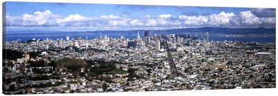 Cityscape viewed from the Twin Peaks, San Francisco, California, USA #2 Canvas Print #PIM7837