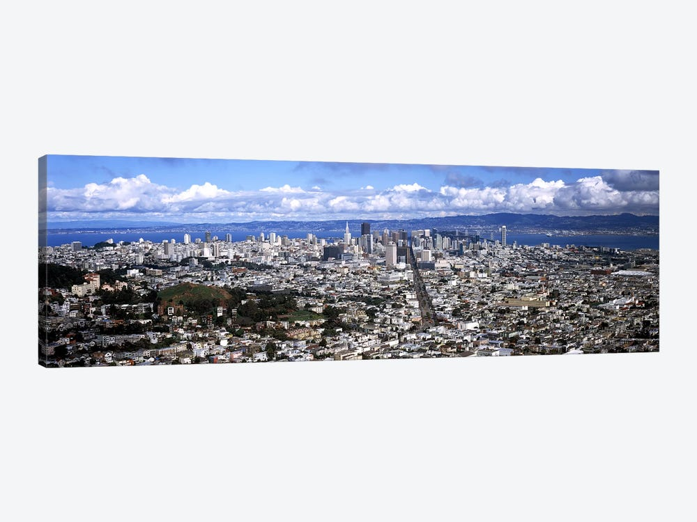 Cityscape viewed from the Twin Peaks, San Francisco, California, USA #2 by Panoramic Images 1-piece Art Print