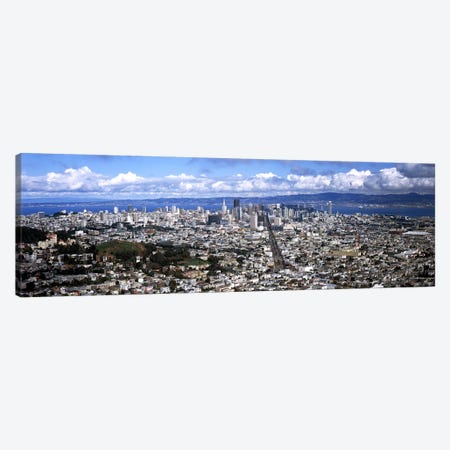 Cityscape viewed from the Twin Peaks, San Francisco, California, USA #2 Canvas Print #PIM7837} by Panoramic Images Canvas Print