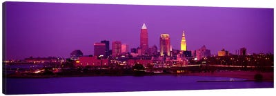 Buildings Lit Up At NightCleveland, Ohio, USA Canvas Art Print