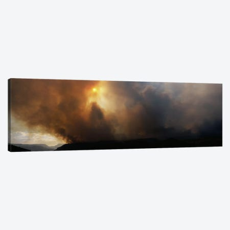 Smoke from a forest fire, Zion National Park, Washington County, Utah, USA Canvas Print #PIM7858} by Panoramic Images Canvas Wall Art