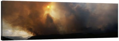 Smoke from a forest fire, Zion National Park, Washington County, Utah, USA Canvas Print #PIM7858
