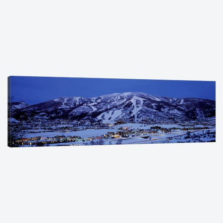 Illuminated Landscape, Mt. Werner, Steamboat Springs, Routt County, Colorado, USA Canvas Print #PIM7861} by Panoramic Images Canvas Art Print