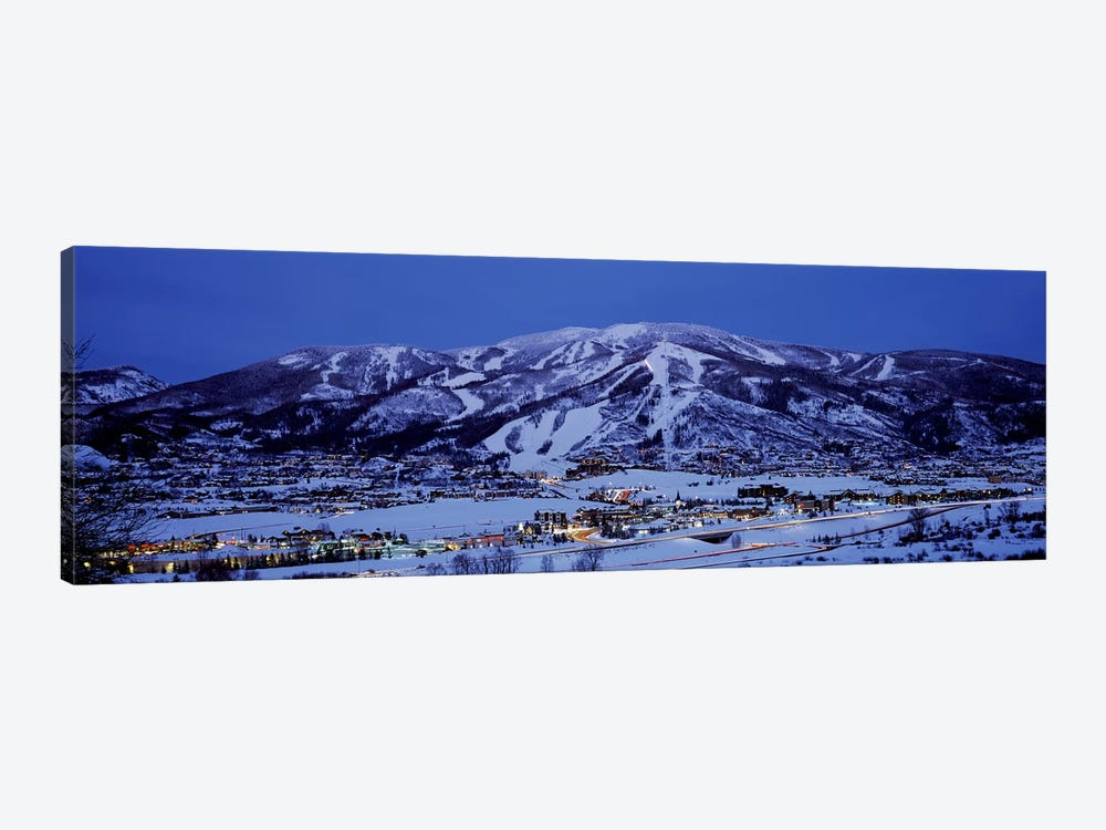 Illuminated Landscape, Mt. Werner, Steamboat Springs, Routt County, Colorado, USA by Panoramic Images 1-piece Canvas Wall Art